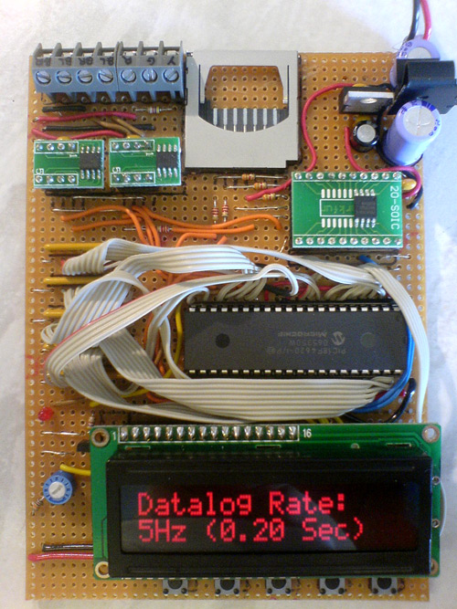 Thermocouple datalogger test board