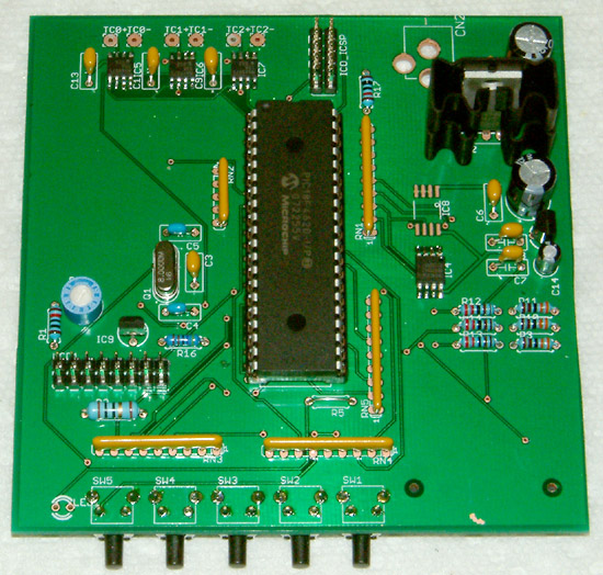 2nd prototype k-type datalogger - component side